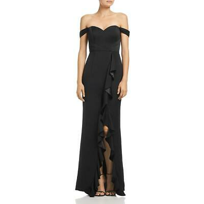 Bariano Womens Black Off-The-Shoulder Formal Evening Dress Gown S BHFO 3735