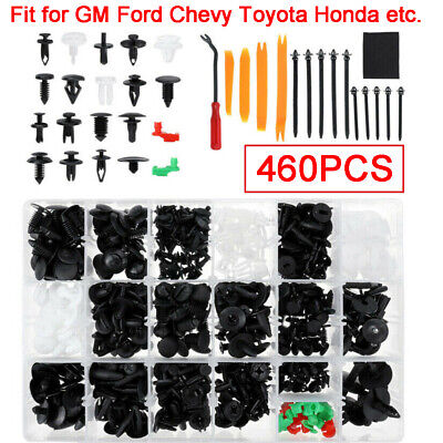 460PCS Auto Car Body Retainer Clips Plastic Fasteners For GM Ford Chevy Toyota