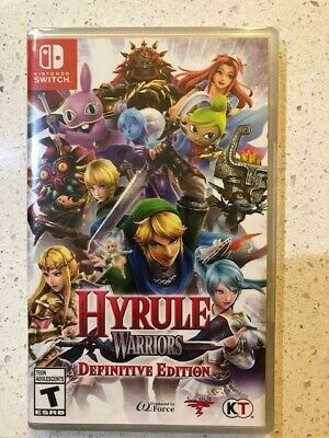 Hyrule Warriors: Definitive Edition (Nintendo Switch, 2018) sealed ships free