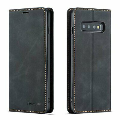 For Samsung Galaxy S10 S9 S10 Plus Leather Flip Case Wallet Magnetic Card Cover