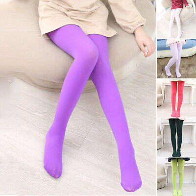 Hosiery Stockings Tights Pantyhose Kids Ballet Dance Opaque 6 Color Velvet Fancy