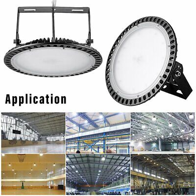 Ultra-Thin UFO LED High Bay Light 300W 200W 100W Commercial Industrial Lamp