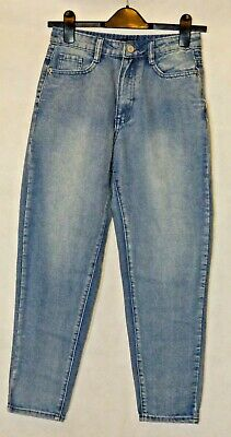 Missguided Petite Riot Waisted Mom  Jeans size 6 Blue