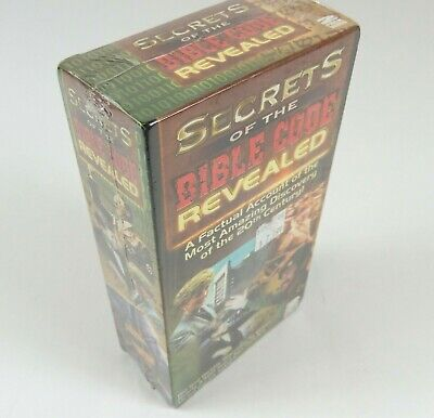 Secrets of the Bible Code Revealed Double 2 VHS Set 1999 Rare Madacy NEW