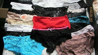 Job  Lot   21  X    Panties Knickers  Size   10/12                       Au Wd