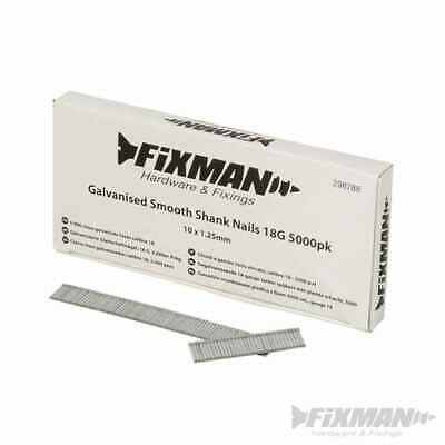 Fixman Galvanised Smooth Shank Nails 18G 5000pk 10 x 1.25mm