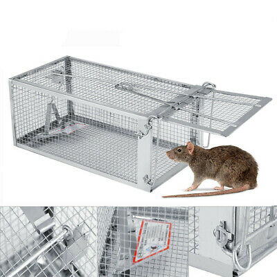 Rat Trap Cage Small Live Animal Pest Rodent Mice Mouse Control Bait Catch Killer