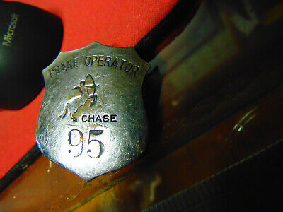 Vintage CHASE BRASS &  COPPER Crane Operator Work Badge--EXTREMELY RARE!