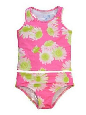 Big Girls Pink Darling Daisy Brooke Fully Lined 2 Pc Tankini Swimsuit 7-12
