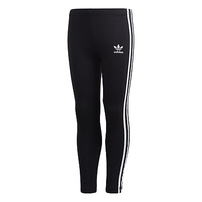 Adidas Girls Junior Stripe Leggings Joggers Jogging Bottoms Pants Gym Age 4-9