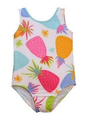 Little Girls Multi Color Pineapple Print Jacen One Piece Bathing Suit 2T-6X