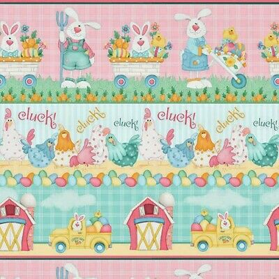 Down On The Bunny Farm Easter Stripe 1846 Cotton Henry Glass & Co