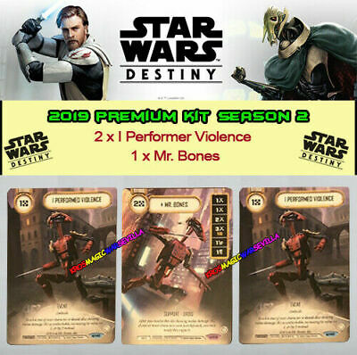 STAR WARS DESTINY - 2019 PREMIUM KIT SEASON 2 - I Performer Violence + Mr. Bones