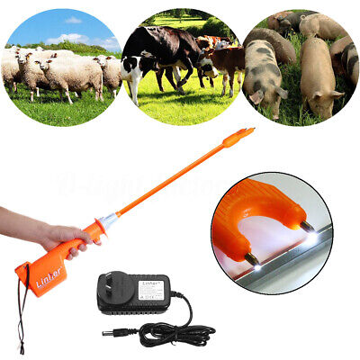 65cm Rechargeable Electric Livestock Cattle Pig Prod Handle Animal Stock Prodder