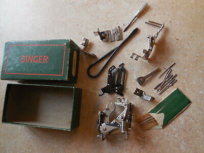 Vintage Singer 160809 Sewing Machine Attachments 2 srewdrivers needled +++