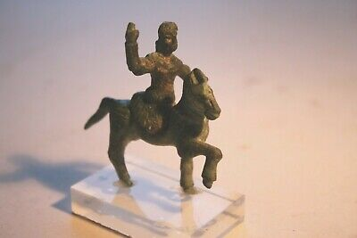 ANCIENT THRACIAN/CELTIC BRONZE HORSE & RIDER 1st CENTURY BC/AD EQUESTRIAN