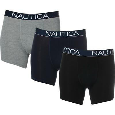 Nautica Men's 3 Pack Breathable Stretch Cotton Boxer Brief Underwear