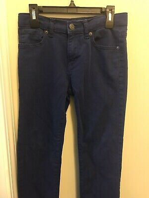 OLD NAVY- Boys Blue Slim Fit Chinos Size 10 Adjustable Waist