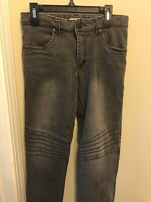 MOSSIMO Supply Co Boys Faded Black Denim Distressed Jeans Size 12
