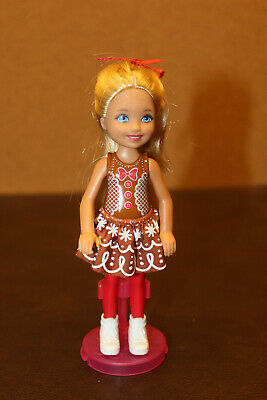 🎅Barbie's Little Sister Chelsea Doll Christmas Holiday Gingerbread Man🎅