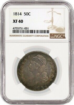 1814 50C Capped Bust Silver Half Dollar NGC XF40