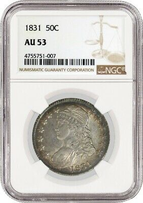 1831 50C Capped Bust Silver Half Dollar NGC AU53