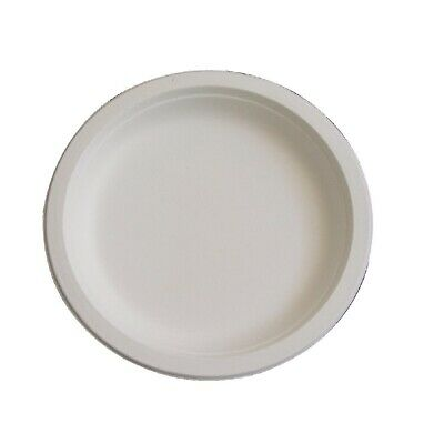 Fiesta Green Compostable Bagasse Round Plates 179mm (Pack of 50)
