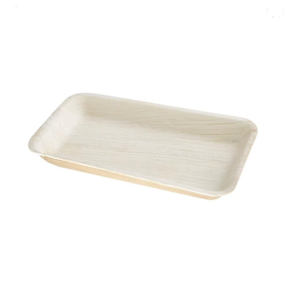 Fiesta Green Biodegradable Palm Leaf Deep Rectangular Plates 250mm Pack100