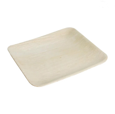 Fiesta Green Biodegradable Palm Leaf Square Plates 250mm Pack of 100