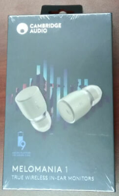 Cambridge Audio Wireless Earbuds In-ear Melomania 1 White Brand New Sealed Pack