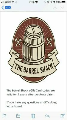 $50 Barrel Shack Gift Card