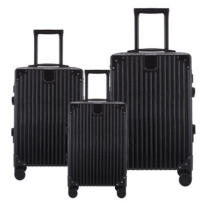 "20"" 24"" 28"" Hard Shell Luggage Set Travel Trolley Suitcase 360° Spinner Wheel"