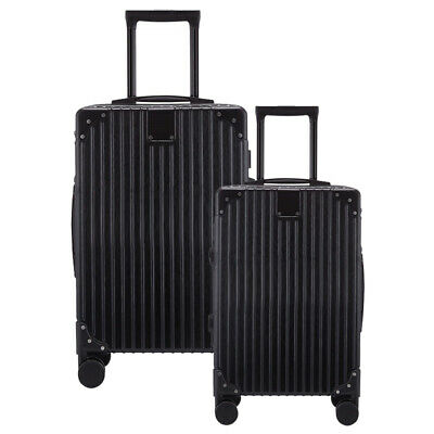 "2 PCS Trolley Suitcase Luggage Set 360° Spinner Wheels ABS Hard Shell 24"" 28"""