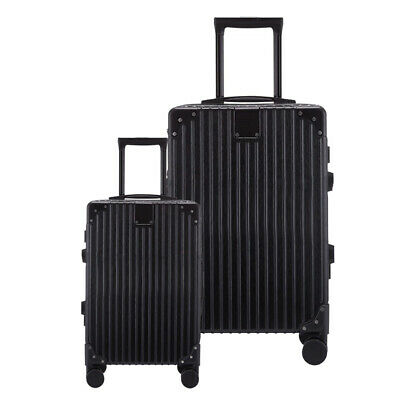 Lightweight Portable Luggage Suitcase Travel Bag Cabin Trolley Hard Shell 2 Set