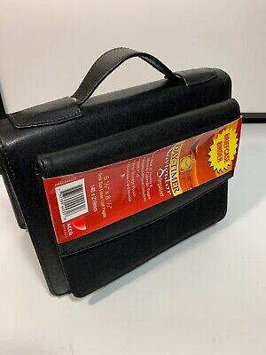 """Day-timer Briefcase Style Vinyl Starter Set With Zip dtm44531 5.50/"""" Weekly"""