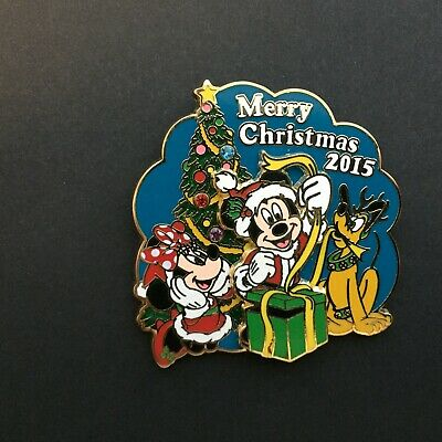 Merry Christmas 2015 - Mickey , Minnie and Pluto - LE 2000 Disney Pin 112652