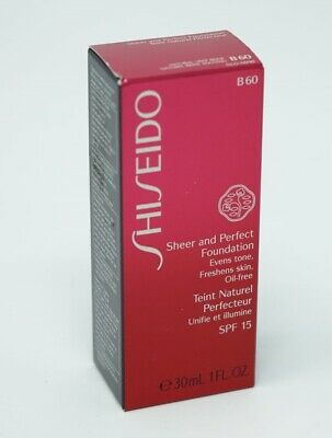 Shiseido SPF15 Sheer and Perfect Foundation B60 Natural Deep Beige