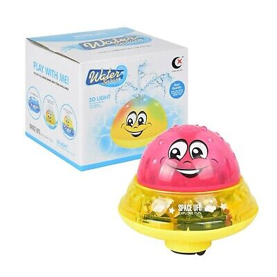 2 in 1 Electric Induction Water Spray Bathtub and UFO Car Toy with LED Light