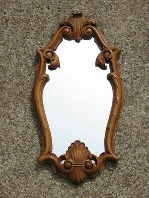 Elegant Mirror with Frame Baroque Wooden Mirror Years' 50