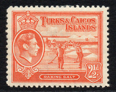 Turks & Caicos Islands 2 1/2d Stamp c1938-45 Mounted Mint