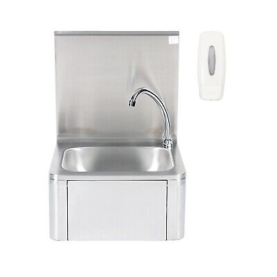 Wall-Mounted Stainless Steel Hand-Washing Basin With Soap Dispenser, Knee Contro