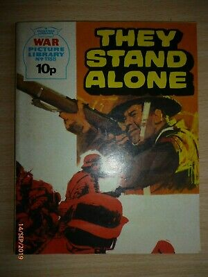 War Picture Library no 1188 - THEY STAND ALONE, 1976 Shoot! advert on back cover