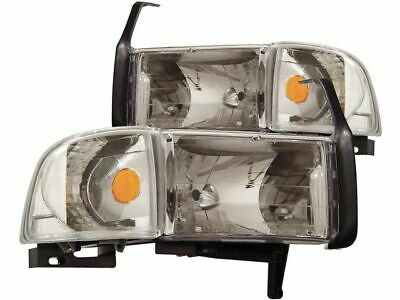 For 1994-2002 Dodge Ram 2500 Headlight Set Anzo 88298TS 1999 2001 1997 1998 1995