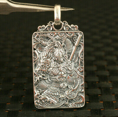 S925 silver hand cast Sun Wukong statue pendant necklace amulet gift