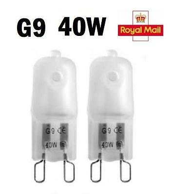 2/5/10 X G9 Ampoules Lampe Halogène Capsule 240V 40W Watts Givré Dimmable