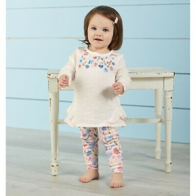 Mud Pie H9 Sweet Blossom Floral Baby Girl Tunic Legging Set Choose Size 11010136