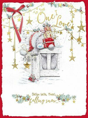 Boxed Extra Large Greeting Card Teddy Christmas One I Love