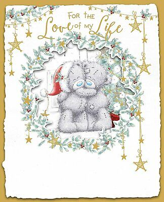 Large Greeting Card Teddy Christmas for The Love of My Life