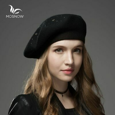 High Quality Casual Women Berets Winter Knitted Hats Wool Cashmere Ladies Caps