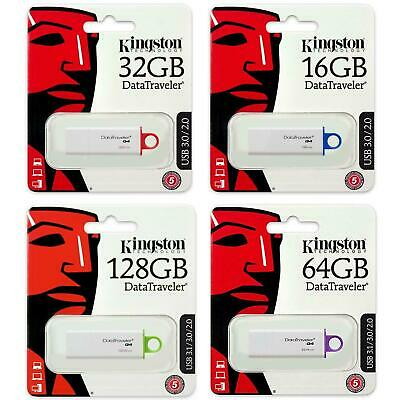 Kingston USB Memory Stick 128GB 64GB 32GB 16GB 8GB 3.0 Data Traveler Pen Drive
